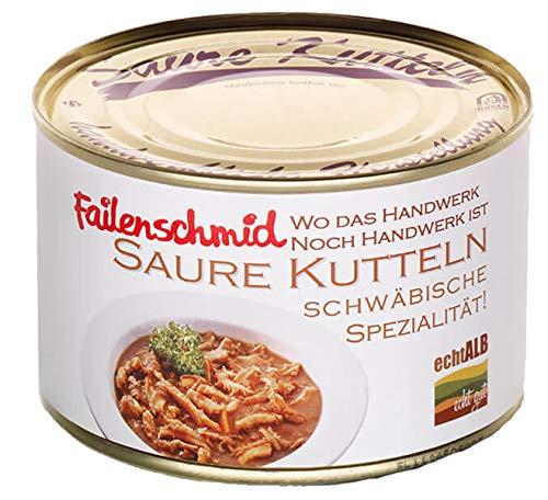 Saure Kutteln – Schwäbische Kutteln sind eine Spezialität nicht nur zum Fasching - servierfertiger 3er Pack (3 Dosen à 400 g)