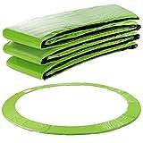 Arebos Trampolin Randabdeckung Federschutz | 183, 244, 305, 366, 396, 457 oder 487 cm | aus PVC und PE | Reißfest | 100% UV-beständig | Hellgrün (hellgrün, 183 cm)