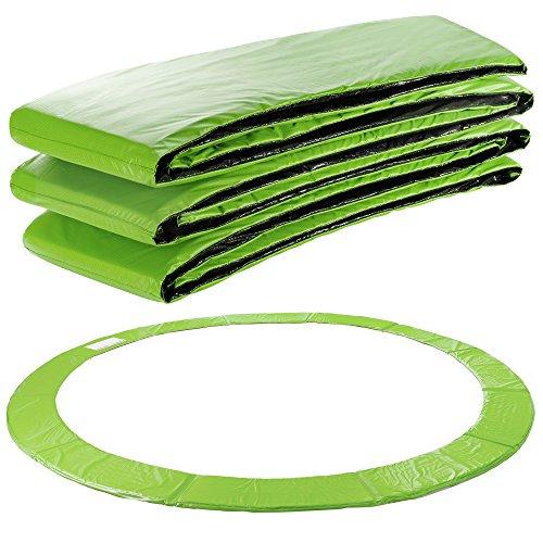 Arebos Protection de ressort de couverture de bord de trampoline | 183, 244, 305, 366, 396, 427, 457 ou 487 cm | PVC et PE | résistant à la déchirure | 100% résistant aux UV | Vert clair (183 cm)
