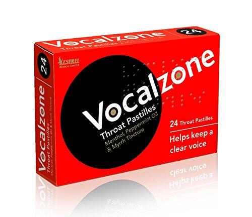 Vocalzones sore throat lozenges with a unique formula