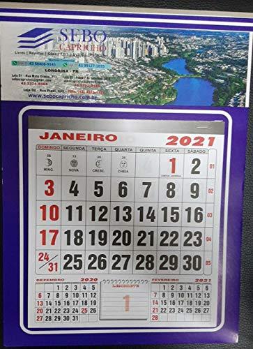 folhinha calendario 2021 londrina 86 anos