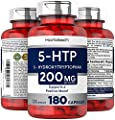 Horbaach 5-HTP 200mg | 180 Capsules | 5HTP Extra Strength Supplement | Non-GMO, Gluten Free | 5 Hydroxytryptophan