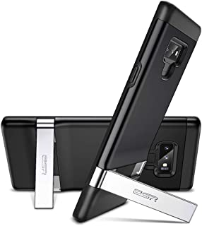 ESR Metal Kickstand Case Compatible for Samsung Note 9,[Vertical and Horizontal Stand] [Reinforced Drop Protection] Hard PC Back with Flexible TPU Bumper for Note 9(Black)