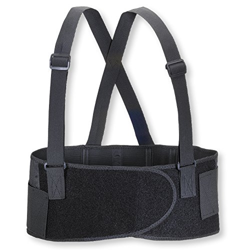 Valeo Industrial VEE7 Economy 7' Back Support Elastic Belt, VA4675, Black, Medium