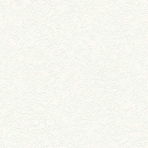 Vliestapete Mustertapete Tapeten mit Muster 337412 33741-2 A.S. Création Meisterputz 15 m | Weiß | Muster (21 x 29,7 cm)