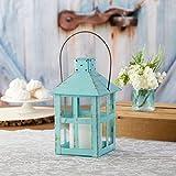 Kate Aspen Vintage Distressed Decorative Lantern, Blue, Extra Large (Pack of 1)