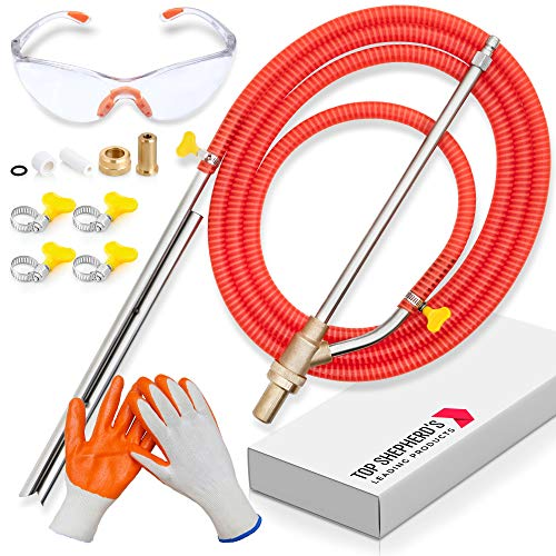 """sand blaster for pressure washer - wet sandblasting kit for pressure washer with Sand Blasting Nozzle Attachment, Hose, Sandblaster Wand, and Clamps for Wet Media, Up to 5000 PSI, ¼"""" Quick Disconnect"""