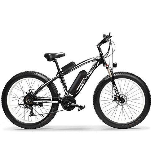 Extrbici XF660 500W / 1000W 48V 7/21 Geschwindigkeit Elektrofahrrad 26\'X4.0 Fat Wheel Snow Bike Mechanische Scheibenbremse