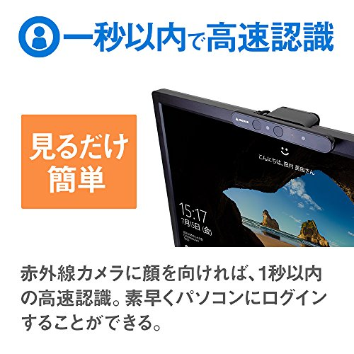 『mouse USB顔認証カメラ Windows Hello 機能対応 CM01』の1枚目の画像