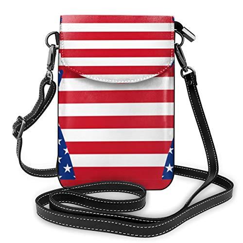 Generic American Hands Kleine Umhängetasche, Handtasche für Damen, PU-Leder, Handtasche mit verstellbarem Riemen für den Alltag