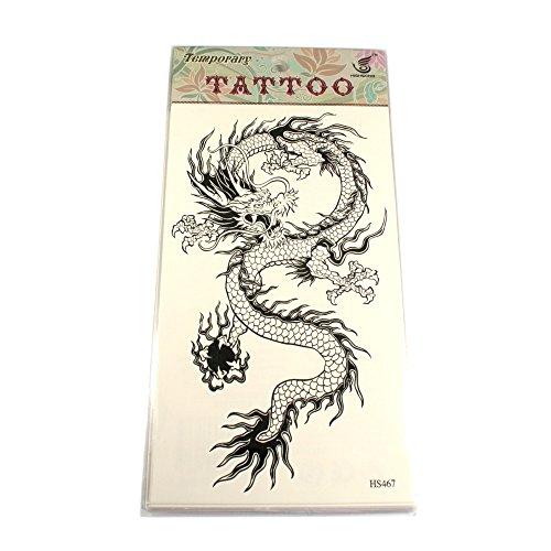 Tattoo mit chinesischem Drachenmotiv in schwarz