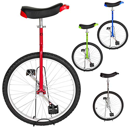 Great Price! T4B Freestyle Unicycle 24-Inch Wheel – Leakproof Butyl Wheel Tire – Outdoor Sports Fitness Exercise Health – Red