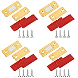 LUTER Paquete de 4 Imanes para Puerta de Armario, Cierre Magnético Ultradelgado para Puerta con Tornillos y cierre magnético para Cajón para Armario de Cocina, Cierre de Puerta, Armario (Oro)