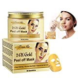 Blackhead Remover Mask, Blackhead Peel off Mask, Peel off Face Masks,24K Gold Facial Mask- Anti-Aging,Exfoliating Mask, Deep Cleansing Blackhead Pore,Reduces Fine Lines Wrinkles-120g