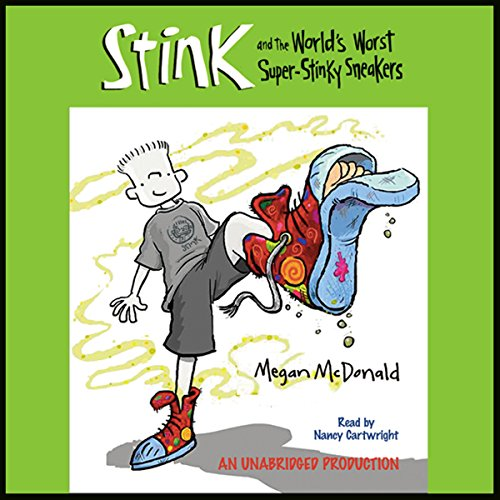 The World's Worst Super Stinky Sneakers audiobook cover art