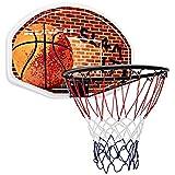 COSTWAY Tablero de Pared para Baloncesto Mini Aro de Baloncesto 73x48 Centímetros para Interior Exterior Adultos y Niños