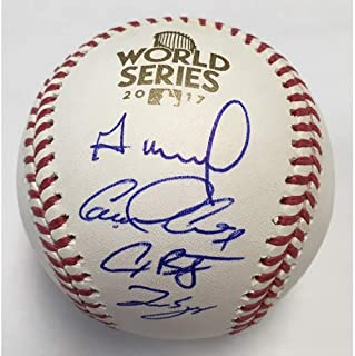 Jose Altuve George Springer Alex Bregman Carlos Correa Houston Astros 4 Signatures Signed Autograph Official MLB Baseball Tristar & JSA Witnessed Certified