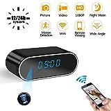 Réveil Caméra Cachée LXMIMI Caméra Espion WiFi 1080P Caméra de sécurité sans Fil avec Vision Nocturne Automatique, Détection de Mouvement, Vidéo en Temps Réel pour Maison Intérieure