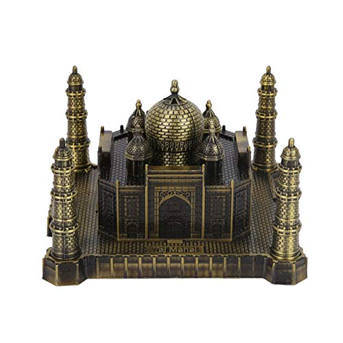 Leftwei Romantic Valentine's Day India Taj Mahal Model,Metal Crafts World Landmark Building Model Architectural Creatives Taj Mahal for Home Office Decor Ornaments