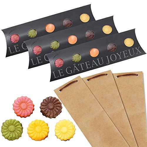 和歌山フィナンシェ5個入(5種のお味)ショコラ、みかん、ゆず、イチゴ、抹茶が香る上品な焼き菓子 プチギフト対応 スタイリッシュな黒箱入! (3箱クラフト袋大)