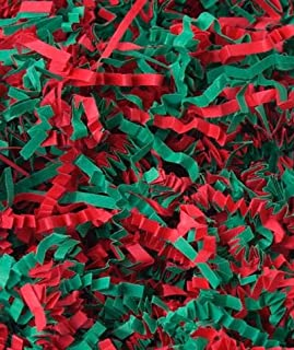 Basket Filler & Shred - Holiday Red & Green Blend Spring Fill (1 Box) - BOWS-431-10-HB