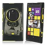 For Nokia Lumia 1020 / Elvis Rubberized Design Cover Case - Spade Skull