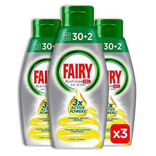 Fairy Platinum Gel Zitrone, Geschirrspülmittel, Maxi Format 96 Waschgänge