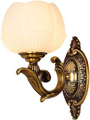Nologo WHNHM Style européen Cuivre Applique Imitation Marbre Applique en Antique Étude Salon Applique américaine Lampe LED européenne