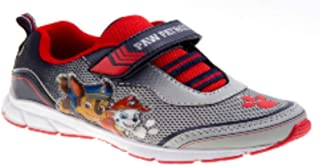 Paw Patrol Boys Athletic Shoe, Character Toddler Boy's Gray/Blue Light-Up Athletic Shoe