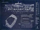 Fenway Park Blueprint Style Print