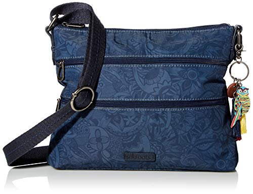 Sakroots womens 108778 Sakroots Eco-twill Basic Crossbody Blue Size: One size