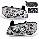 AmeriLite Headlights Halo Chrome for Maxima - Passenger and Driver Side