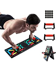 Tumax Push-up Rack, 12-in-1 Collapsible Push Up Board, Bodybuilding Pushup Stand Power Press and Multi-Function Board for Body Muscles Exercise Sports Gym Home Workout