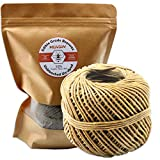 MILIVIXAY Hemp Wick with Natural Beeswax Coating, Edible Grade Beeswax, 200 FT Spool, Thick Size (2.0mm),Unbleached, Un-Dyed and 100% Organic, Perfect Alternative to Butane Lighters and Matches.