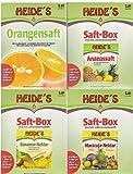 'Saftbar-Südsee' (1 x Orangen-, 1 x Ananas-Saft, 1 x Bananen-, 1 x Maracuja-Nektar), je 5 Liter
