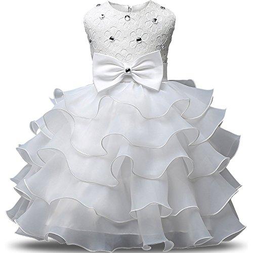 Baby Girl Ruffles Dress Infant Party Lace Princess Wedding Birthday Elegant Princess...