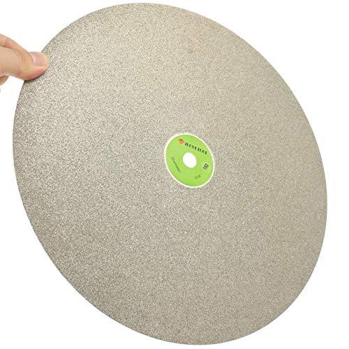 "ABST07520 Abrasive 20"" Inch Diamond Coated Flat Lap Disk Grinding Polishing Wheel Grit 60-1000 Gems - (Grit: 320 Medium)"