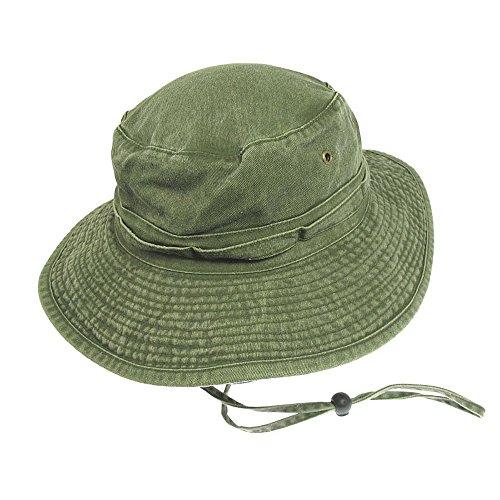 Village Hats Chapeau Bob Boonie Pliable en Coton Olive - Large