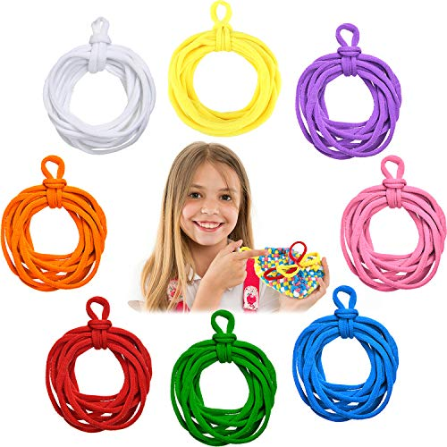 Loom Potholder Loops Colorful Elastic Weaving Craft Loops Compatible with 10 x 10 Inch Weaving Loom for DIY Crafts Supplies (288)