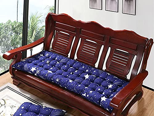 Elegante cojín de asiento hermoso, cojín de silla de jardín al aire libre, cojín de banco rectangular antideslizante con lazo de fijación (estilo-b, 53 x 150 cm)