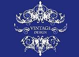 Rayher 4501800 Schablone Vintage Design, mit Rakel, DIN A4, 1 Stück