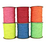 SGT KNOTS Spectra Cord (2.2 mm x 25 feet) - Low-Stretch Hi-Visibility Accessory Rope - Polyester Cover, Spectra Core - for Hammocks, Tie-Downs, Camping, Survival, Boot Laces, More (Pink)