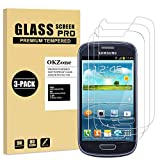 OKZone Protector de Pantalla Pare Samsung Galaxy S3 Mini, [3 Unidades] Cristal Templado Vidrio Templado Protector de Pantalla con [2.5d Borde Redondo] [9H Dureza] [Alta Definicion]