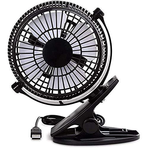 Air cooler Ventilador de escritorio de USB, ventiladores de mesa de 4 pulgadas, mini clip en ventilador, ventilador de refrigeración portátil con 2 velocidades, ventilador de cochecito usado, ventilad