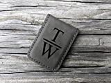 Personalized Leatherette Wallet Money Clip. Graduation Gifts For Men Women Dad Mom. Birthday Gift. Groomsmen Gift.