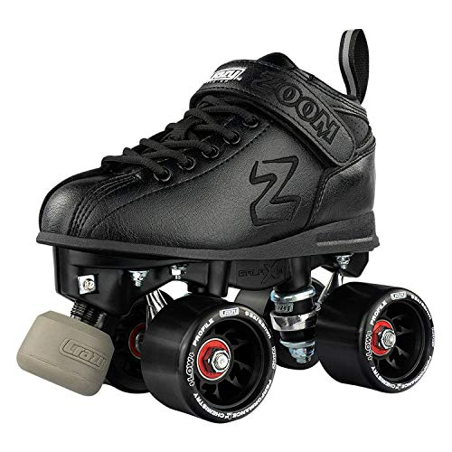 Image of Crazy Skates Zoom Roller Skates - High Performance Speed Skates - Black (Men's Size 11 / Women's Size 12)