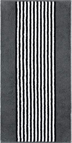 Cawö Home Handtücher Black & White Streifen 977 anthrazit - 77 Handtuch 50x100 cm
