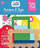 """I Love Summer Frames & Tags Ephemera includes 33 shapes Echo Park Paper Company Package Length of the Product: 4.0"""""""