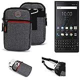K-S-Trade® Gürtel-Tasche Für BlackBerry KEY2 (Dual-SIM)