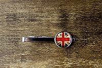 イギリス国旗タイクリップ、ユニオンジャックタイクリップ、ガラスドーム装飾品イギリス国旗タイクリップ、カスタムカフリンクス
